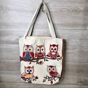 OWL TOTE LARGE
